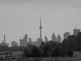 Downtown From A Distance #2 by Neville6000