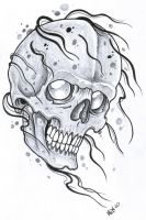 BG Skull Tattoo Flash 2010 by vikingtattoo
