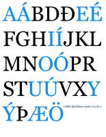 Icelandic Alphabet by sternradio7