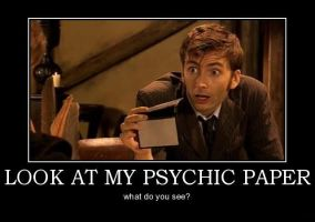 Doctor Who-Psychic Paper by Lycan-wolf96