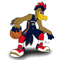 NBA Mascots - Pierre the Pelican by Bleuxwolf