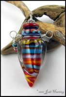 Lampwork Perfume Vessel Bottle by Beadworx