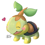 Little Turtwig [Redraw] by KiwiBeagle