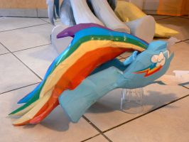 Dashie Papercraft 3 - tail and hind legs by Znegil