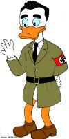 Rudolf Hess as a duck by Shenziholic