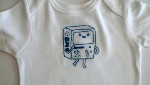 Beemo embroidered onesie by starrley