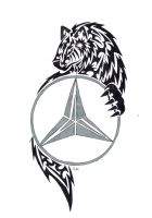 mercedes benz wolf tribal by KazeandGeira