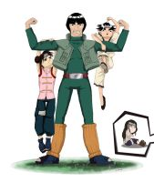 NARUTO - Team Gai Training by Chisako