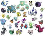 Pokemon Lineart Coloured by Sealed-one