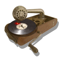 Steampunk Victorian USB CD DVD Reader-Writer Icon by pendragon1966