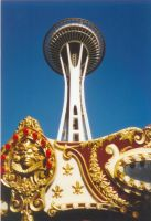 Space Needle by ScreamingPoet
