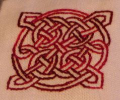 Block 39 - Red Silk Knot by Kithplana