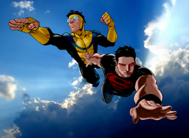 Invincible and Superboy by SUPERMAN3D