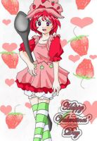Valentine Strawberry Shortcake by ChikyuuSenshi