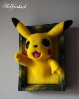Needle felt Pikachu by Mothershark
