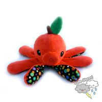 ApplePi the Red Apple Octopus Plush by The-Cute-Storm