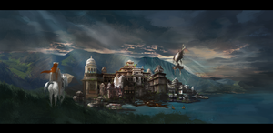 Chaladon Capital City by GunsOfIcarus