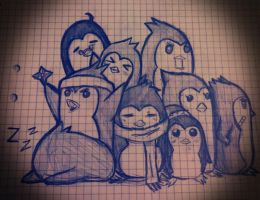 Penguins! :D by DivineHeartz