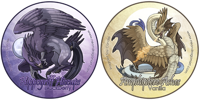 Hippogriff Hiccups + Amphipter by neondragon