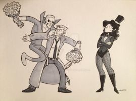 Commission - Deadman, Constantine, Zatanna by tyrannus