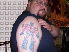 My Optimus Prime Tattoo by LittleBigDave