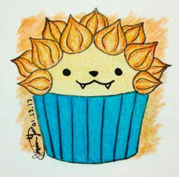 Lion Cupcake by Wing41227