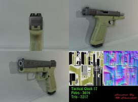 Glock 17 Tactical Model Sheet by unknownguyver81