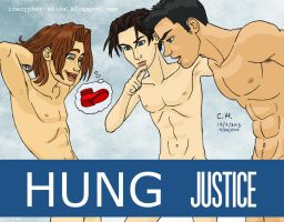 Young Justice shower by Cesar-Hernandez