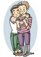 Hug and Klaine by lalla17