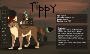 Tippy commission and ref by Capukat