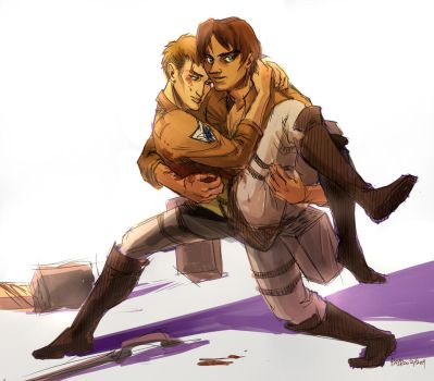eren and jean by PayRoo