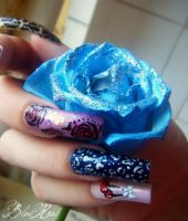 roses...blue leopard...precious cherry's by RoseEmma
