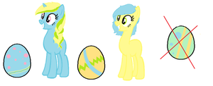::HATCHED:: Easter Egg Ponies 3 by PennyDropShop