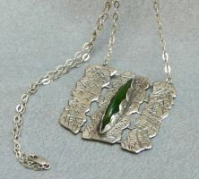Talisman of the Warrior Queen silver necklace by YANKA-arts-n-crafts