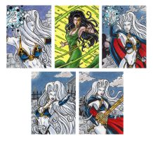 Lady Death Sketch Cards 2 by tonyperna
