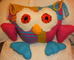 Hand Knitted Oswald the Owl by Supach