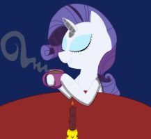 Rarity Drinking Some Delicious Coffee by BadPinkiePieDrawer