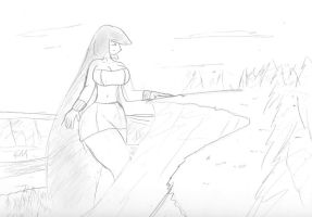 Sabrina at a Forest valley by Feyzer