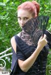 Gothic Girl with Fan by Lady-Calypso
