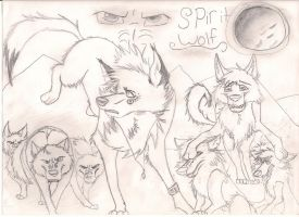 Spirit Wolf sketched cover in pencil by Wolvesreign23