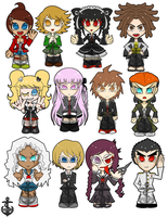 Dangan Ronpa Sticker Sheet by NamiOki