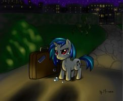 Tenacious P - Vinyl Scratch tale by Mr-Samson