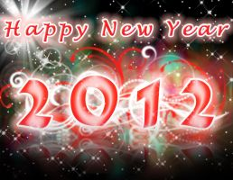 Happy new year 2012 by godisdrawing