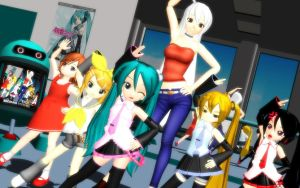 MMD Chibi Music Class ... by Trackdancer