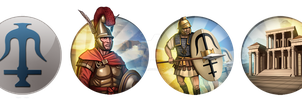 Civ 5 Mod Icons - Seleucid Empire by JanBoruta