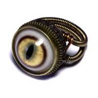 Steampunk Ring Bobcat eye by CatherinetteRings