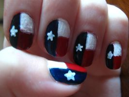 Texas Nails by ChloeCat3