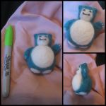 Needle Felted Snorlax by Katlynmanson