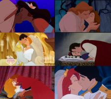 Disney Prince and Princess Kisses by Dante123689