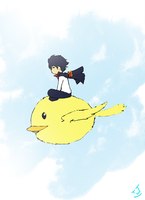 $5 Commision example: Hi-chan and Hi-bird by SUPREMEOVERL0RD